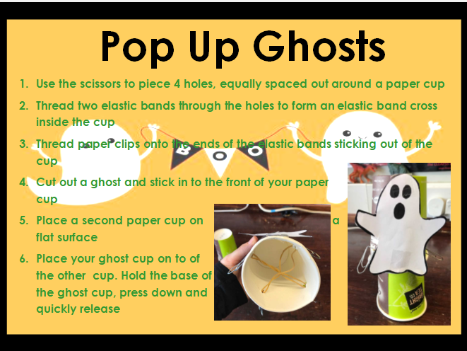 Halloween Themed STEM club Activities Scheme of Work