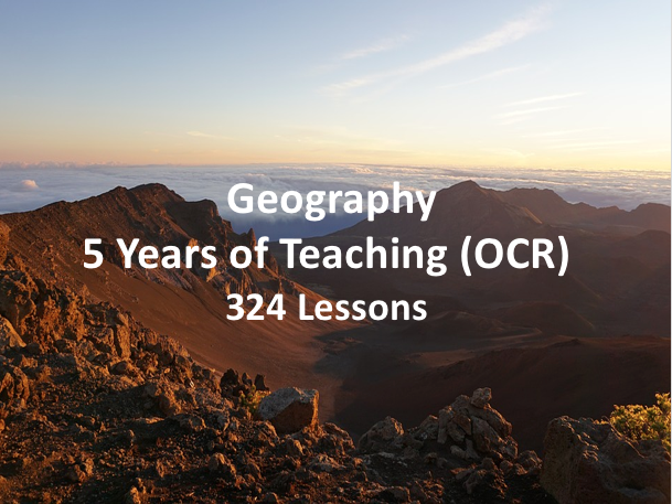 Geography - 5 Years of Teaching (OCR)