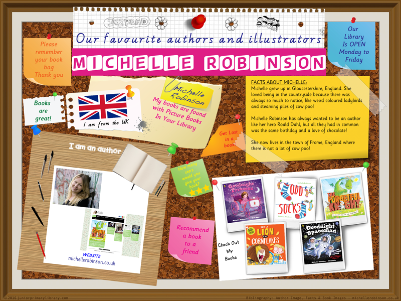 Library Poster - Michelle Robinson UK Author Of Picture Books