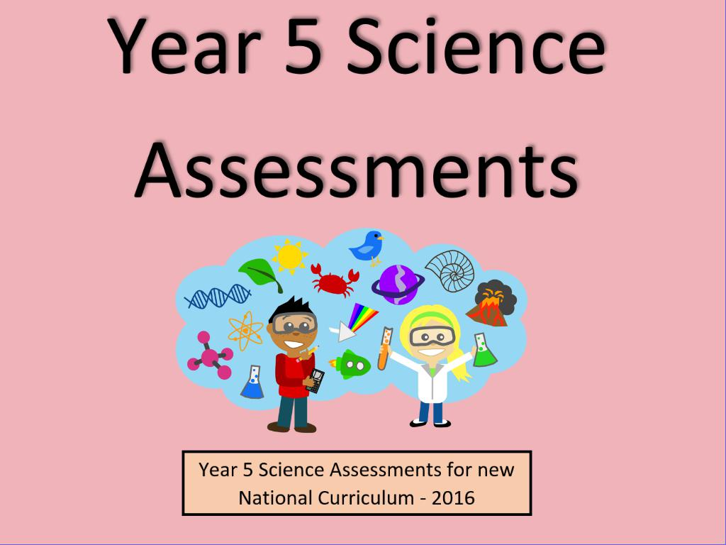 Year 5 Science Assessments and Tracking Without Levels