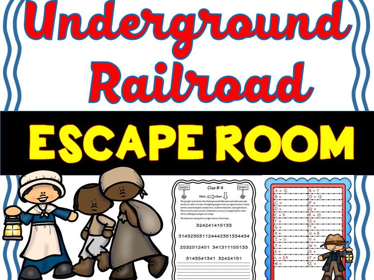 Underground Railroad Escape Room - U.S. History - No Prep!
