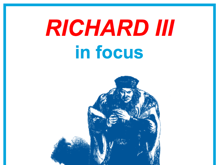 Richard III in Focus Poster and Worksheet Pack KS3