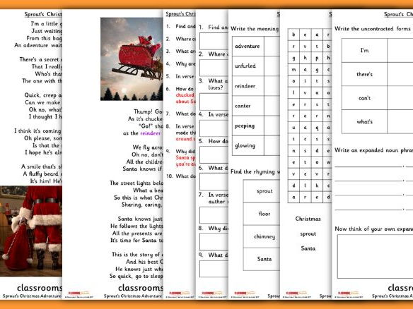 KS1 Christmas Poetry Guided Reading Carousel Pack