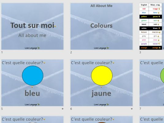 Colours in French - PowerPoint