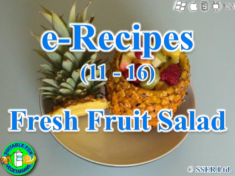 14.   Fresh Fruit Salad (e-Recipe)