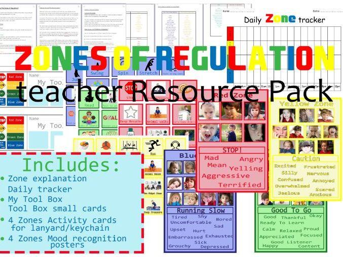 Zones Of Regulation Teacher Resource Pack