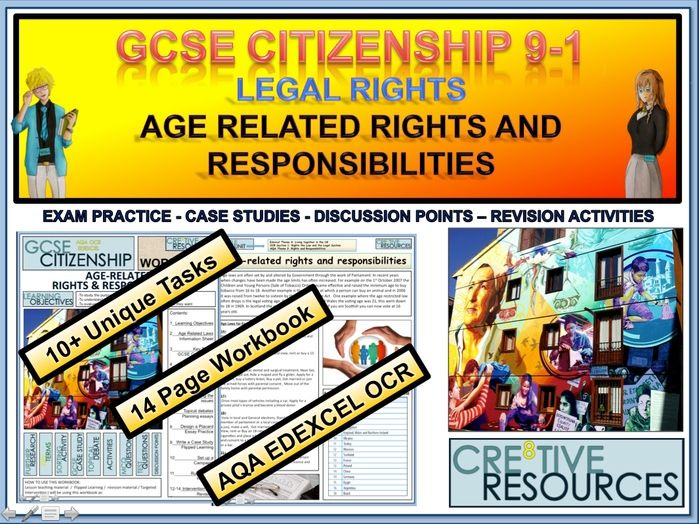 Legal rights - Age Related Rights and Responsibilities -  Work Booklet