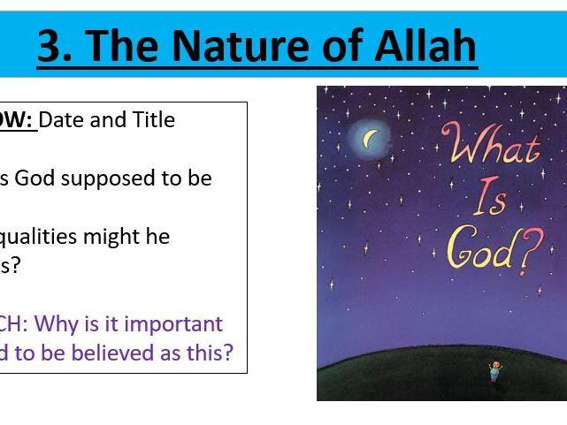 The Nature of Allah - EDEXCEL Spec B - Muslim Beliefs