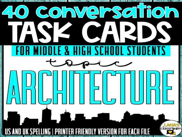Conversation Starter Cards | Architecture | Social Skills for Middle&High