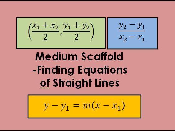 Medium Scaffold - Equations of straight lines