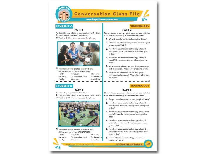 Technology - ESL Conversation Activity