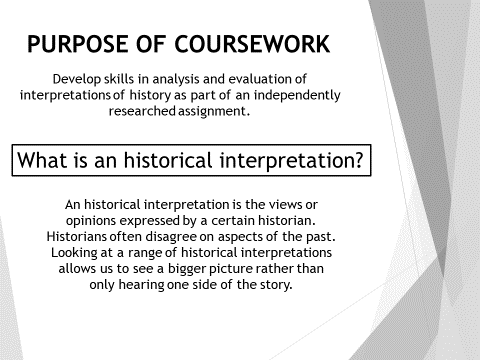 Coursework - 9 lessons - Edexcel A Level History