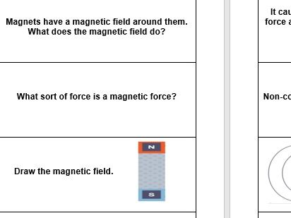 Revision flash cards for AQA Trilogy Physics paper 2