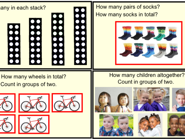 Year 1 Multiplication & Division - Counting in 2's (pptx)
