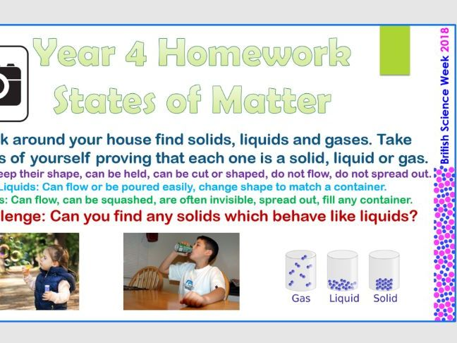 British Science Week 2018 KS2 Homework Tasks