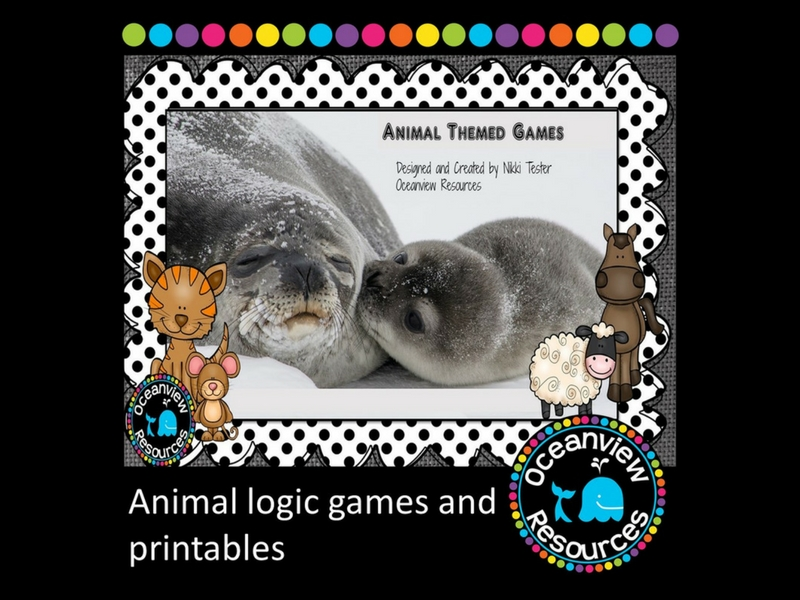 Animal logic games and Printables