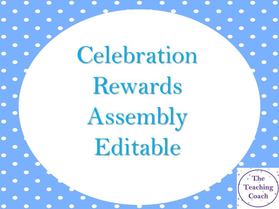 Editable Celebration Rewards Assembly Slide Template - Head of Year