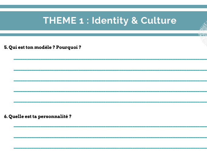 GCSE French speaking booklet