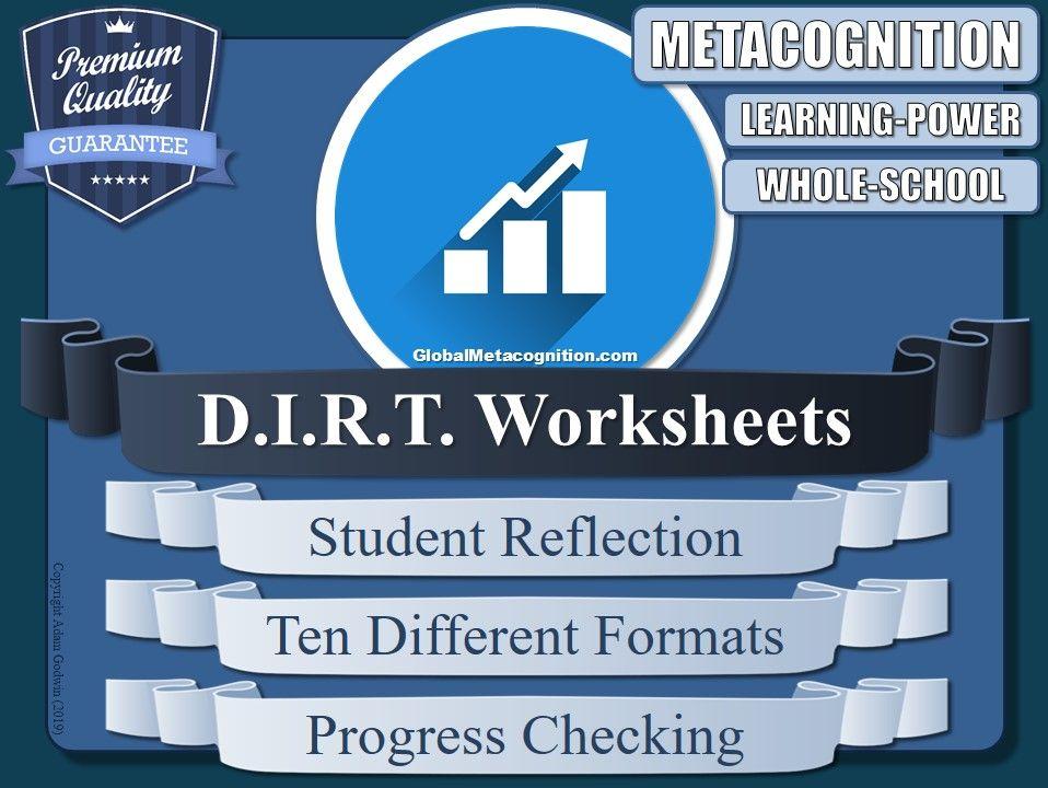 DIRT Worksheet Collection (Metacognition, Metacognitive Strategies) [4/20]