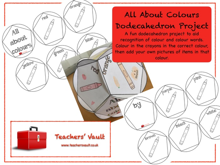 All About Colours Dodecahedron Project