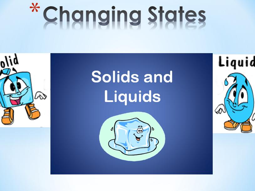 States of matter starter activity