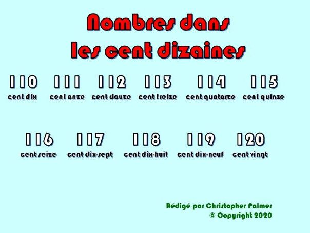 Key Stage 3 French: Numbers from 110+ (with age, 'ils' and 'elles' and 'leur/leurs')