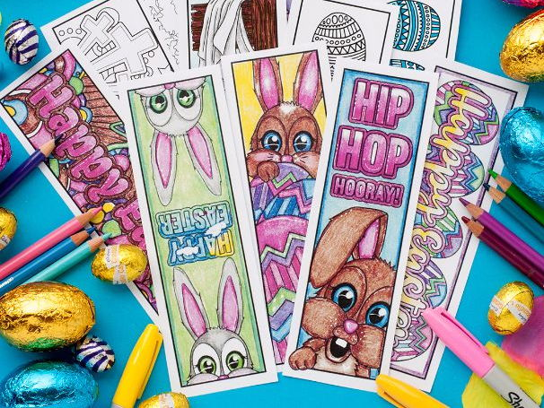 Easter Coloring Bookmarks (Set of 12)