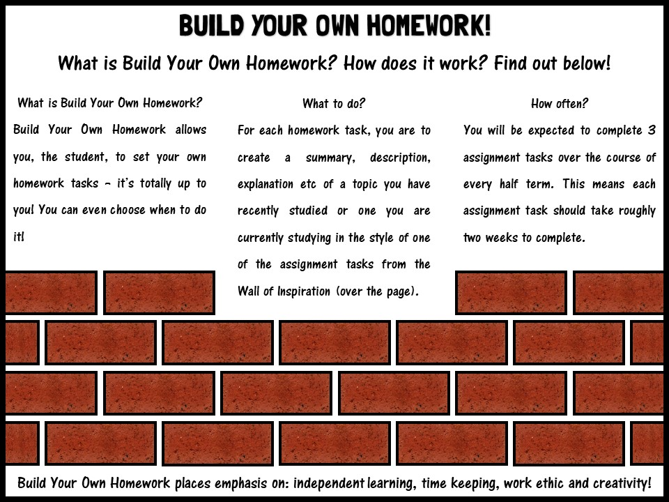 Build your own homework!