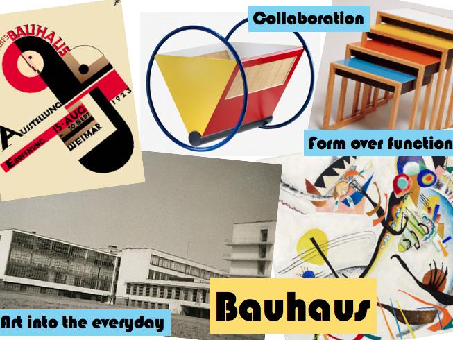 Art & Design Display - Design Movements Examples