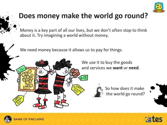 Lesson 2 Money and me - What is money (English curriculum)