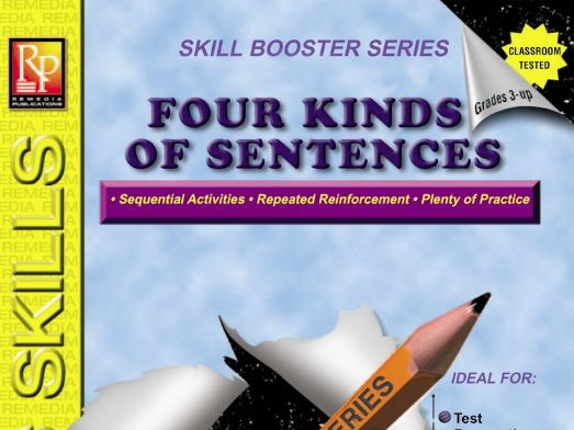 Four Kinds of Sentences: Skill Booster Series