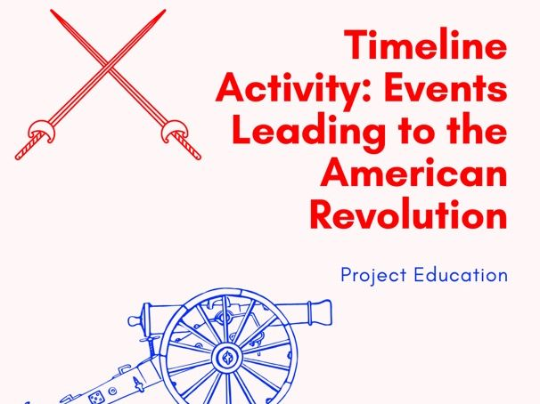 Timeline Activity: Events Leading to the American Revolution