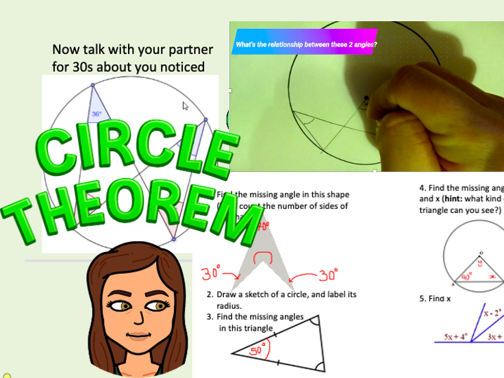 Introduction to circle theorems, year 10