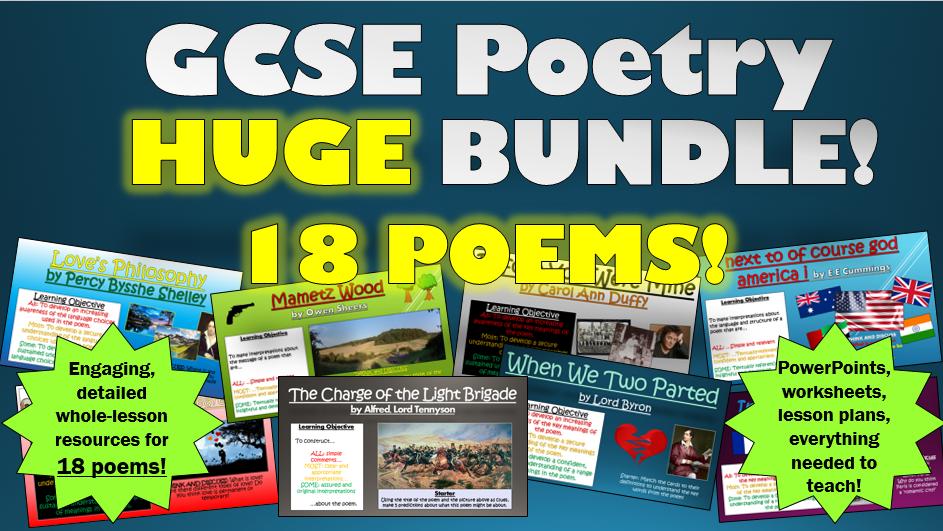 New GCSE Poetry Huge Bundle!