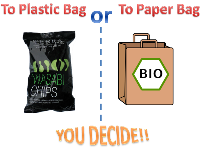 To Plastic or Paper Bag... A matter of waste... Version  2.0