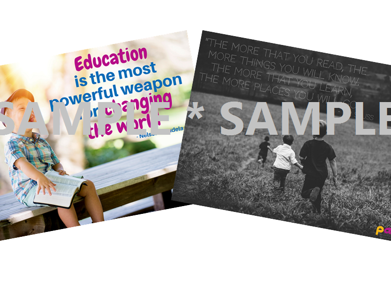 The power of education and reading ¦ 2 x posters