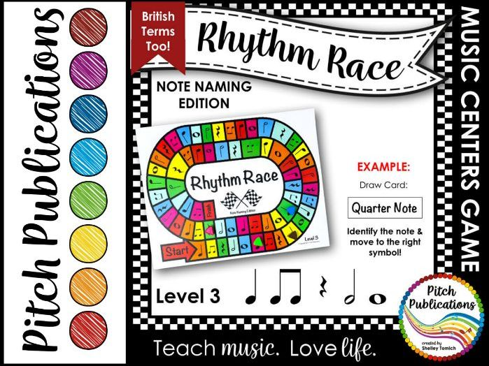 Music Centers: Rhythm Race Note Naming Edition Level 3 - Rhythm Game