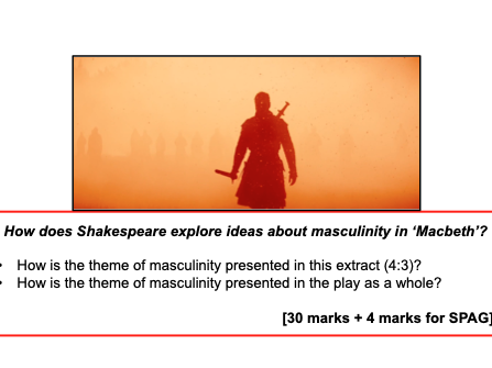 Masculinity Exam Q (Macbeth) - GCSE AQA - KS4