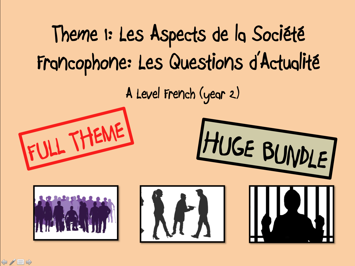Les Questions d'Actualité- FULL THEME- A LEVEL FRENCH (Year 2)