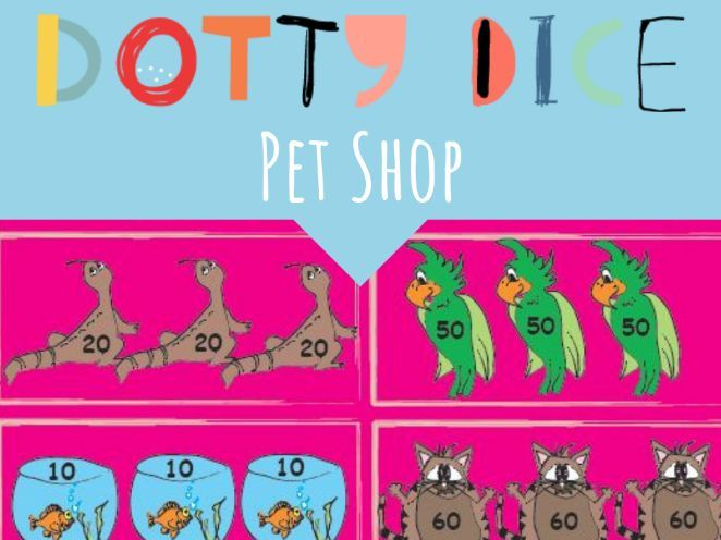 Numeracy Board Game - PET SHOP - 10 Times Tables