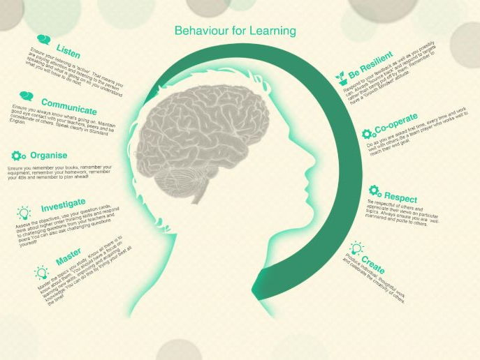 A Growth Mindset and Behaviour for Learning Poster that will blow up to A1 if needed.