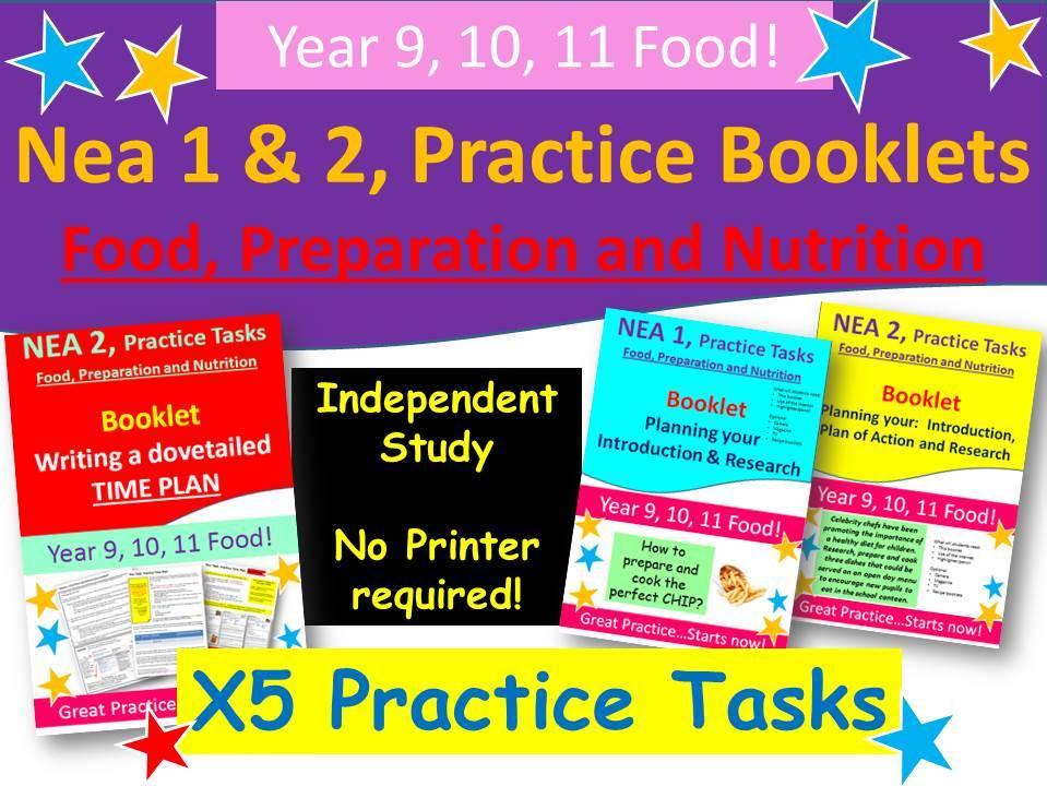 NEA 1 & NEA 2, Food, x5 Practice Booklets