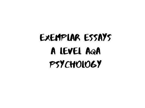 AQA A Level Psychology - Approaches comparison exemplar essay