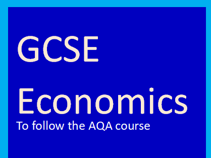 AQA Economics GCSE-Intro to national economy