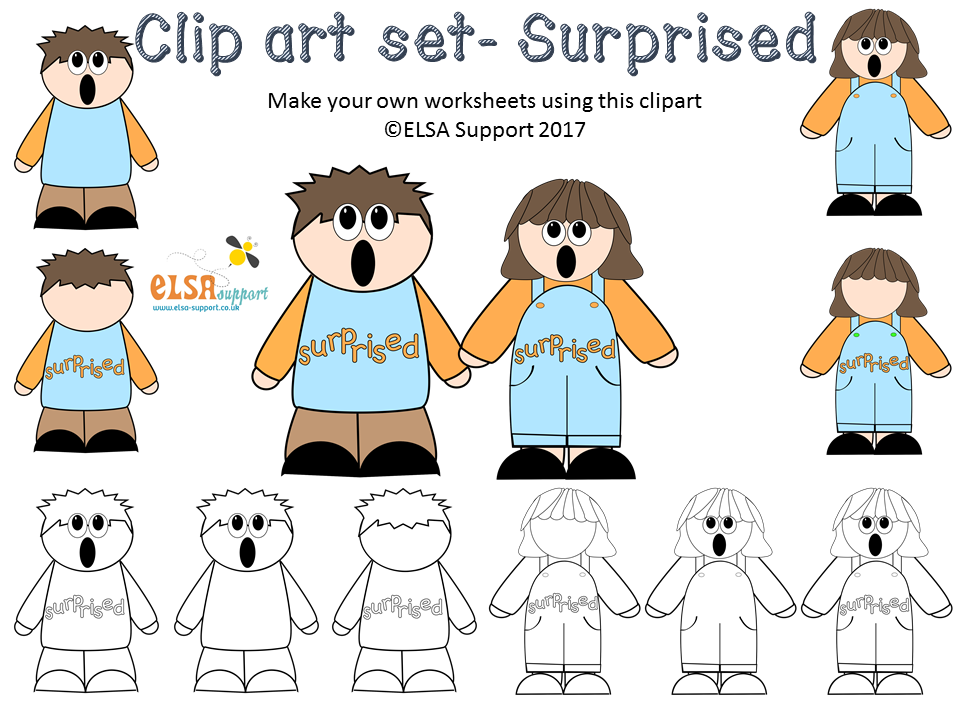 Emotions clip art - Surprised