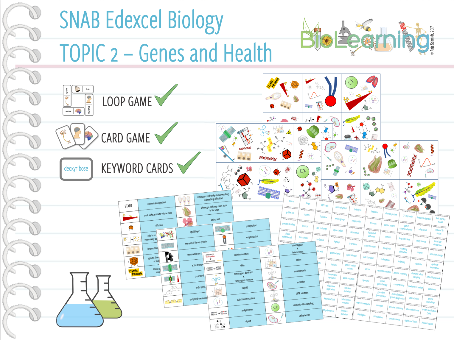 SNAB Biology Topic 2: Genes and Health - 3x Games