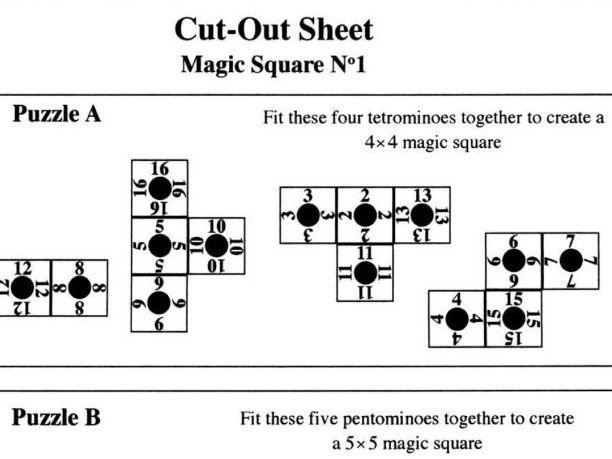 Magic Square No1 (Cut-out Sheet)
