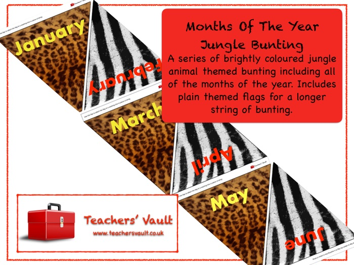 Months Of The Year Jungle Bunting