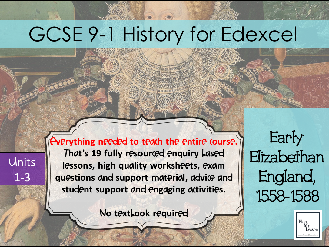 Edexcel GCSE Early Elizabethan England Complete Unit of Work
