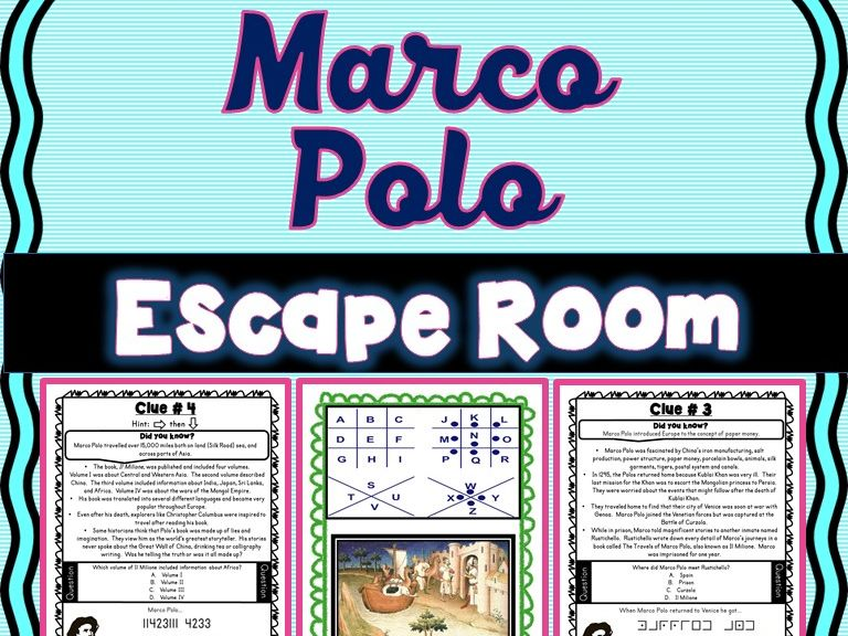 Marco Polo ESCAPE ROOM: Kublai Khan and Mongol Empire